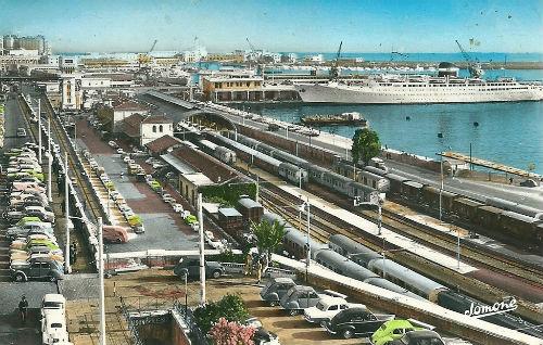 Alger la gare et le port