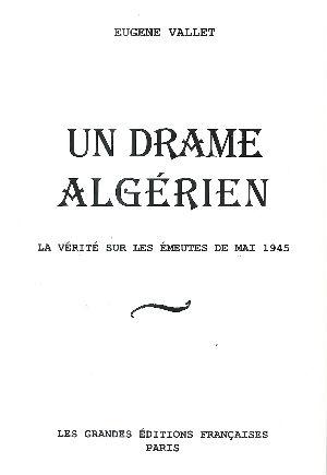 livre un drame algeri