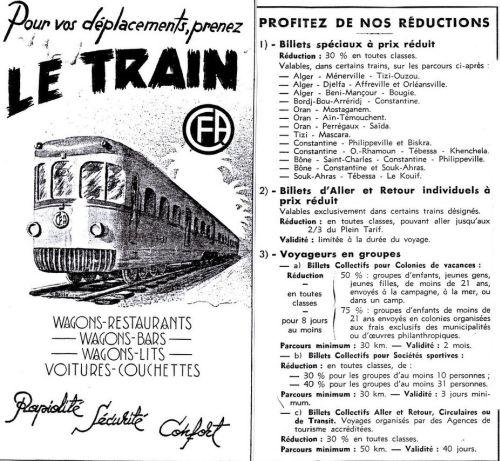 Publicité chemin de fer